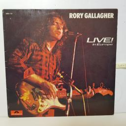"RORY GALLAGHER - live in europe 2383 112 12"" LP."
