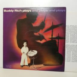 "BUDDY RICH - plays and plays PL 12273 000 12"" LP."