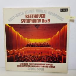 "GEORG SOLTI - decca silver jubilee recording beethoven symphony no.9 6BB 1212 000 12"" LP."