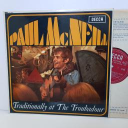"PAUL MCNEILL - traditionally at the troubadour LK 4803 000 12"" LP."
