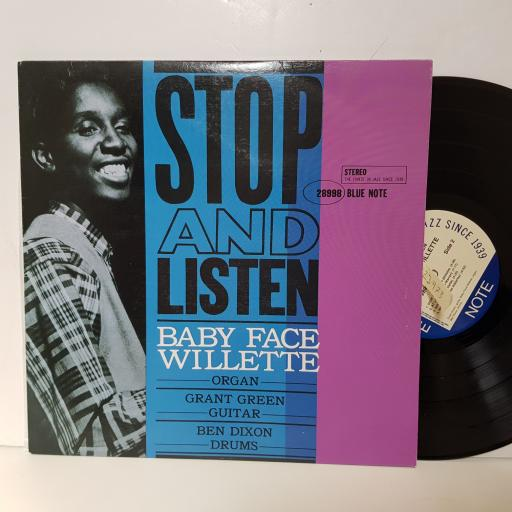 "BABY FACE WILLETTE - stop and listen B1 7243 8 28998 12"" LP."