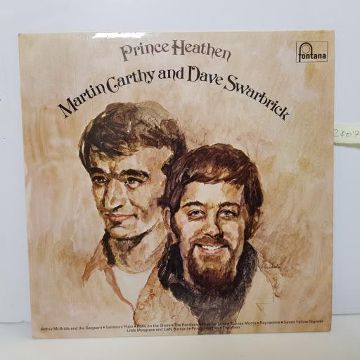 "MARTIN CARTHY AND DAVE SWARBRICK - prince heathen STL 5529 000 12"" LP."