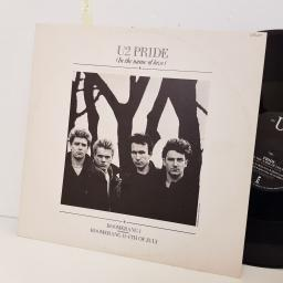 "U2 pride in the name of love. bomerang 11. 4th of July. 12IS202. 12"" vinyl SINGLE"