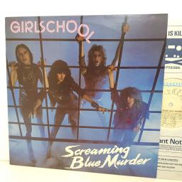 "GIRLSCHOOL sreaming blue murder. BRON541. 12"" vinyl LP"
