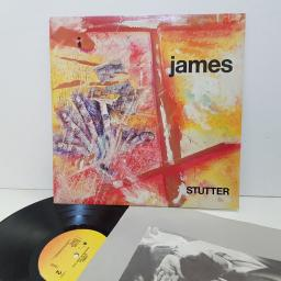 "JAMES stutter. 9254371. 12"" vinyl LP."