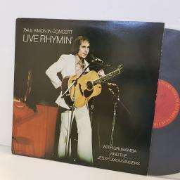 "PAUL SIMON live rhymin' with Urubamba and the Jessy Dixon singers. PC32855. 12"" vinyl LP"