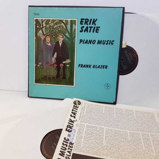 "Erik Satie - Frank Glazer–Piano Music VOX6 – SVBX 5422 Box Set US 1968. 12"" vinyl LP"