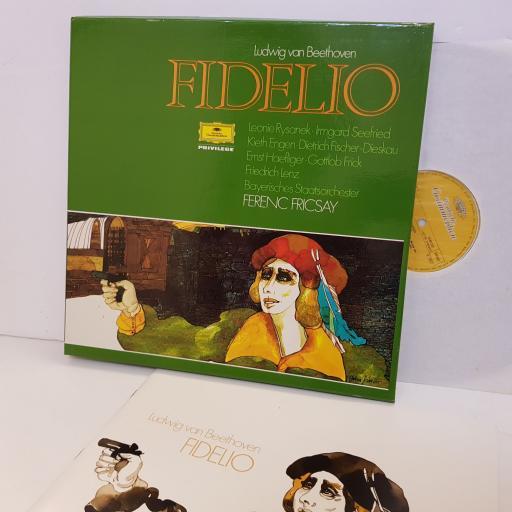 "LUDWIG VAN BEETHOVEN Fidelio BAYERISCHES STAATSORCHESTER Ferenc Fricsay 2705037. 2 X 12"" vinyl LP"