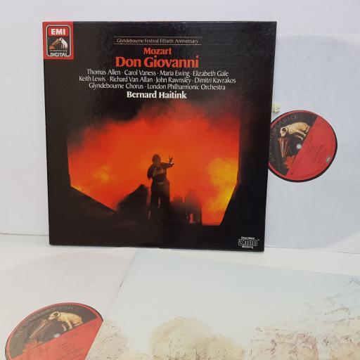 "MOZART Don giovanni. GLYNDEBOURNE FESTIVAL FIFTIETH ANNIVERSARY. Bernard Haitink. SLS1436653. DMM 3 X12"" vinyl LP"