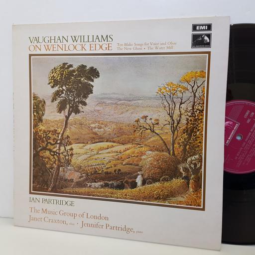 "VAUGHAN WILLIAMS on Wenlock Edge. Ian Partridge. HQS1236 12"" vinyl LP"