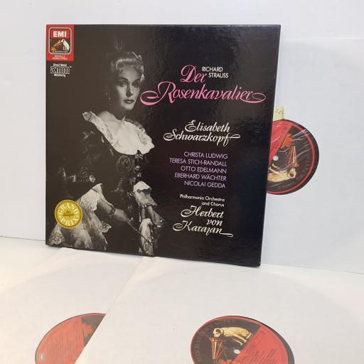 """STRAUSS DER ROSENKAVALIER Elisabeth Schwarzkopf HERBERT VON KARAJAN. DMM 3 x lp box 7493541. 12"""" vinyl LP"""