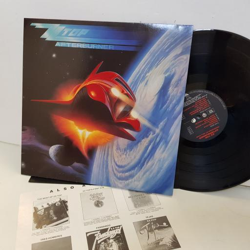 "Z Z TOP. afterburner. UKWX27. 12"" vinyl LP"