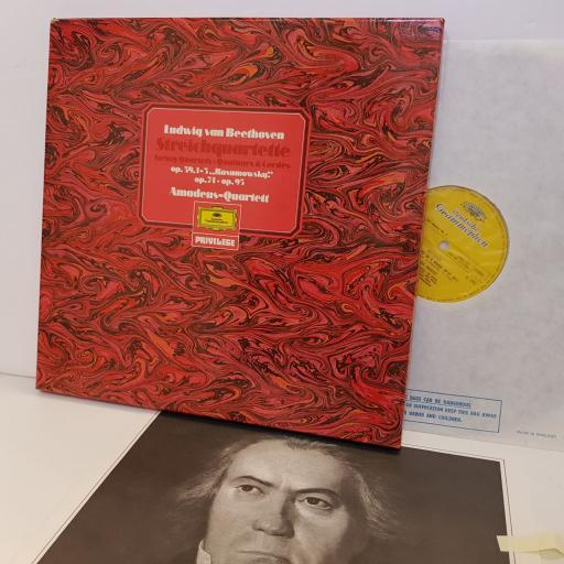 "LUDWIG VAN BEETHOVEN Streichquartette op.59.1-3, op.74.op.95 AMADEUS QUARTETT. 2733005. 3 X 12"" vinyl LP"