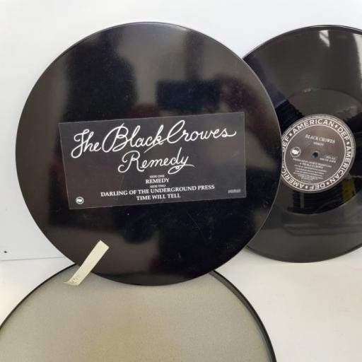 "THE BLACK CROWES remedy. 3 TRACK. 12"" VINYL EP in metal tin. DEFA1612"