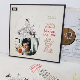 "Puccini, Sir John Barbirolli, Carlo Bergonzi, Renata Scotto – Madama Butterfly. SAN184-6. 3 X12"" vinyl LP"