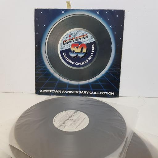 "50 MOTOWN CERTIFIED ORIGINAL No.1 HITS, A MOTOWN ANNIVERSARY COLLECTION. Featuring Diana Ross, The Miracles, Smokey Robinson, Michael Jackson, Mary Wells, etc etc. SE10215. 5 X 12"" vinyl LP"