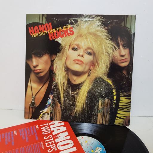 "HANOI ROCKS two steps from the move. 26066. 12"" vinyl LP"