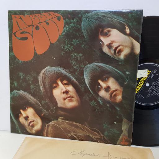 """THE BEATLES rubber soul PMC1267. MONO. 12"""" vinyl LP"""