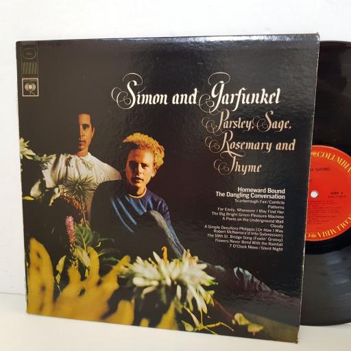 "SIMON & GARFUNKEL parsley sage rosemary and thyme. columbia 9363. 12"" vinyl LP"