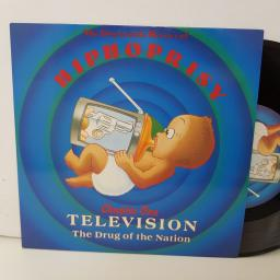 "HIPHOPRISY television the drug of the nation, radio edit. 7"" vinyl. BRW241"