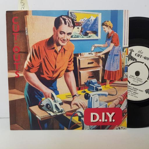 THE CUT OUTS. D.I.Y. we don't wanna hurt ourselves. Nearly right. 7 inch EP vinyl. EMI2984