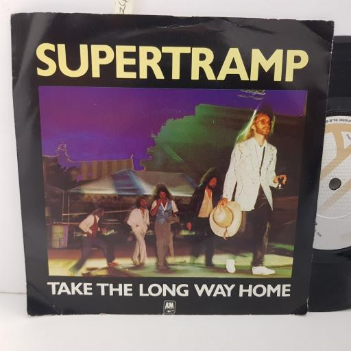 """SUPERTRAMP take the long way room. from now on. 7"""" VINYL. AMS7560"""