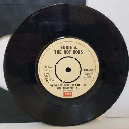EDDIE & THE HOT RODS. farther on down the road. fish n chips part 2. 7 inch vinyl. EMI5160
