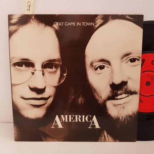 """AMERICA only game in town. high in the city. 7"""" VINYL. CL16094"""