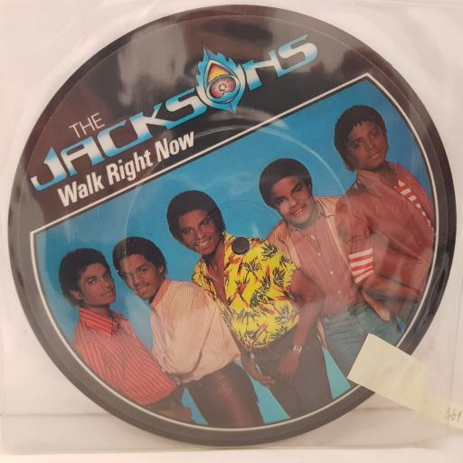 """THE JACKSONS your ways. walk right now. 7""""picture disc VINYL. EPC111294"""
