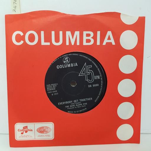 DAVE CLARK FIVE Everybody get together. Darling I love you. 7 inch vinyl. DB8660