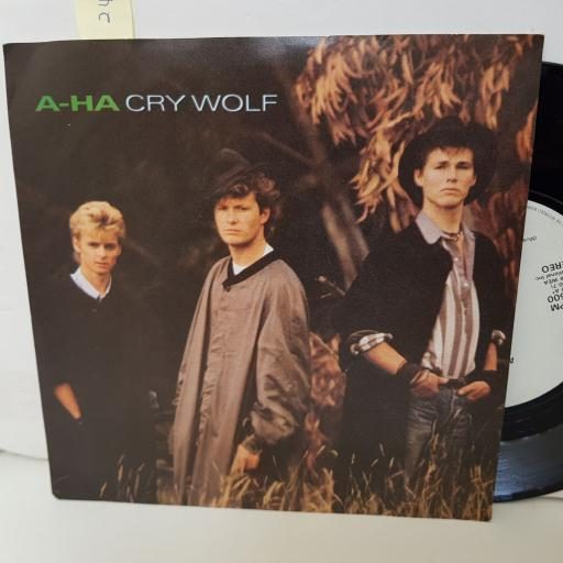 "AHA cry wolf. maybe maybe. 7"" vinyl. W8500"