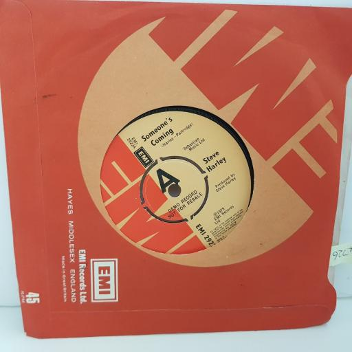 """STEVE HARLEY someone's coming. riding the waves for Virginia Wolf. 7"""" VINYL. EMI2922"""