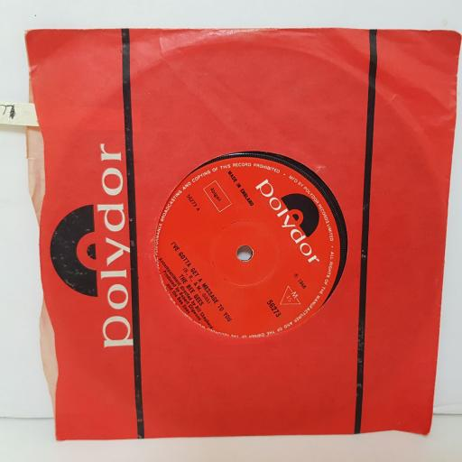 """THE BEE GEES I've gotta get a message to you. Kitty can. VINYL 7"""" SINGLE. 56273"""