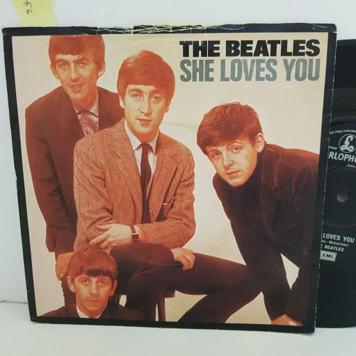 """THE BEATLES she love's you. I'll get over you. 7"""" VINYL. R5055"""