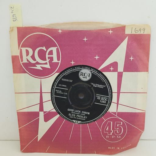 """ELVIS PRESLEY anything that's part of you. good luck charm. 7"""" VINYL. 45RCA1280"""