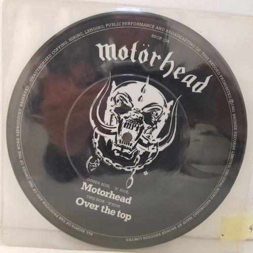 """MOTORHEAD motorhead. over the top. 7""""picture disc VINYL. BROP124"""