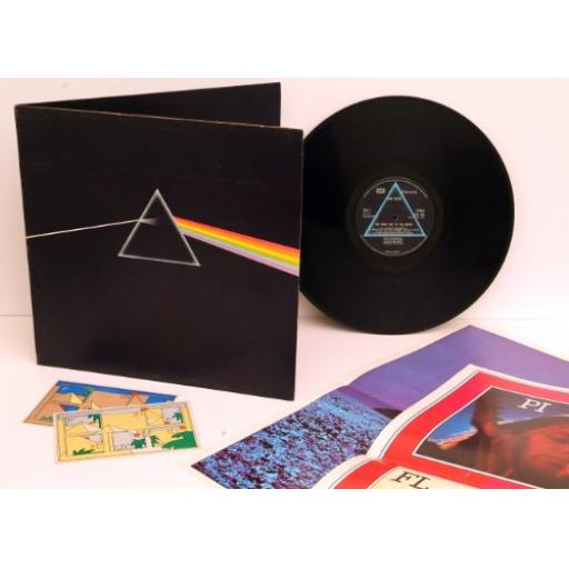 PINK FLOYD THE DARK SIDE OF THE MOON SHVL 804. WITH TWO POSTERS & TWO STICKERS