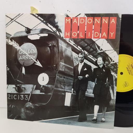 "MADONNA holiday. 2 track 12"" vinyl SINGLE. W9405T"