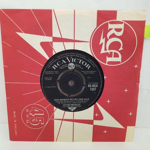 ELVIS PRESLEY They remind me too much of you, One broken heart for sale. 7 inch single vinyl. RCA1337