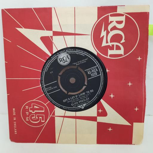 ELVIS PRESLEY Got a lot o' livin' to do, Party. 7 inch single vinyl. RCA1020
