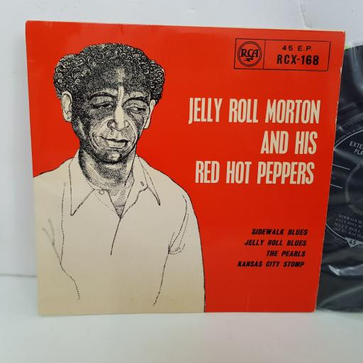 JELLY ROLL MORTON AND HIS RED HOT PEPPERS, Sidewalk blues, Jelly roll blues, The pearls, Kansas city stomp. 7 inch single viyl. RCX168