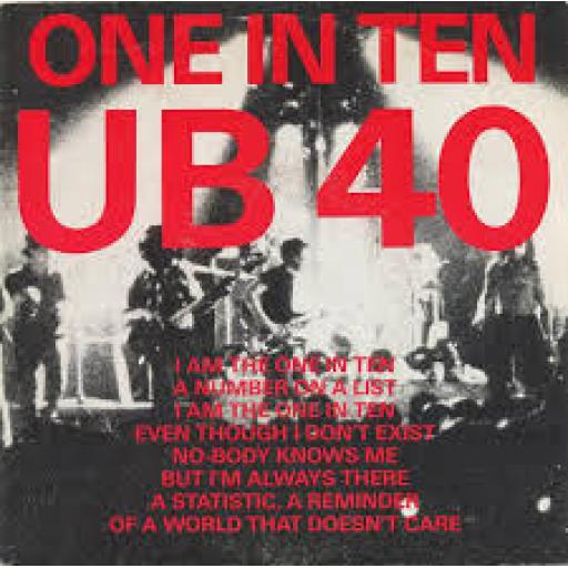 UB40 One in ten, Present arms in dub. 7 inch single vinyl. 7DEP2