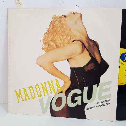 "MADONNA vogue, extended version. 12"" vinyl SINGLE. W9851TX"