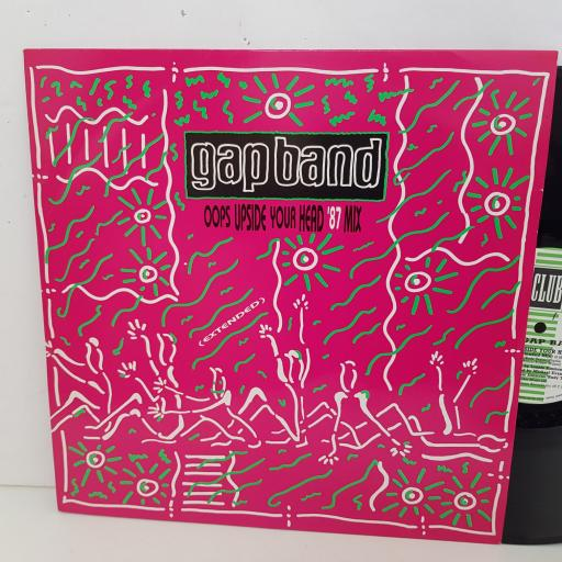 "GAP BAND oops upside your head 87 mix. 12"" vinyl SINGLE. JABX54"