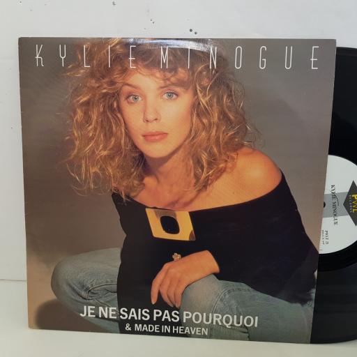 """KYLIE MINOGUE je ne sais pas pourquoi. 12"""" vinyl SINGLE. PWLT21"""