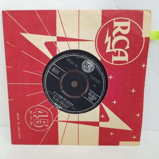 ELVIS PRESLEY Make me know it, It's now or never. 7 inch single vinyl. RCA1207