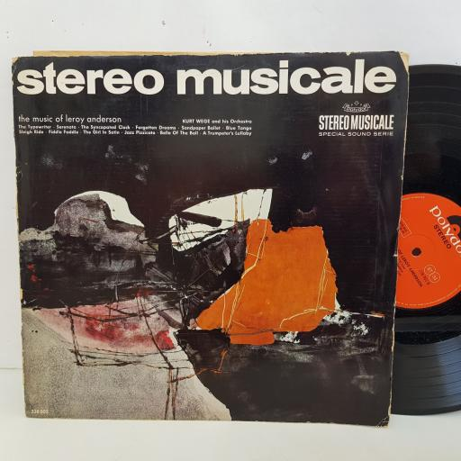 """THE MUSIC OF LEROY ANDERSON Kurt Wege and his Orchestra. 12"""" vinyl LP. stereo musicale 238002"""