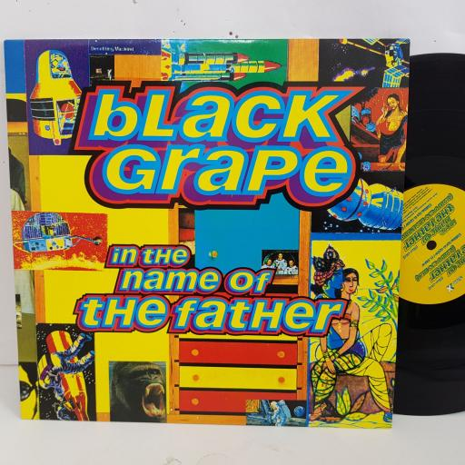 """BLACK GRAPE in the name of the father. 12"""" vinyl SINGLE. RAXT19"""