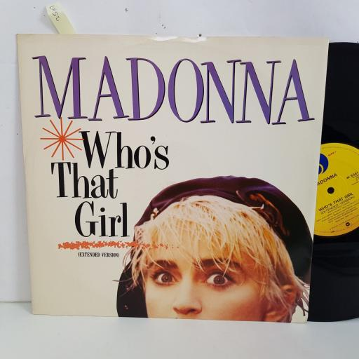 """MADONNA who's that girl, extended version. 12"""" vinyl SINGLE. W8341T"""
