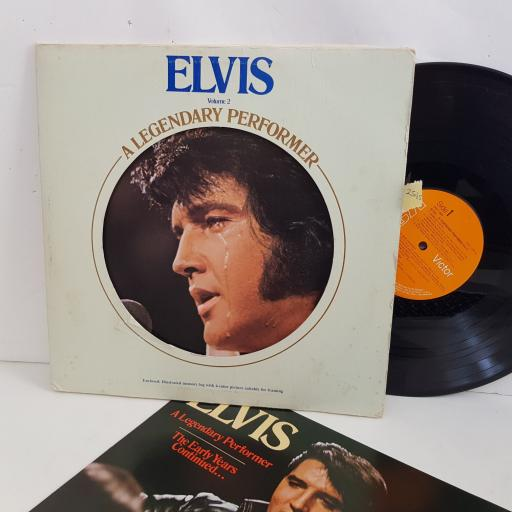 "ELVIS Volume 2 , a legendary performer, WITH 12 PAGE BOOK. 12"" VINYL LP. CPL1 - 1349"